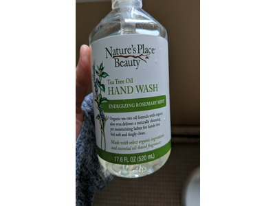 Nature's Place Beauty Tea Tree Oil Hand Wash, Energizing Rosemary Mist, 17.6 fl oz