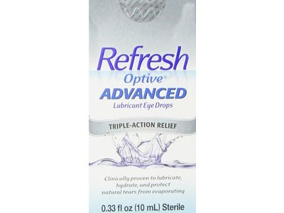 Refresh Optive Lubricant Advanced Triple Action Relief Eye Drops, 0.33 lb