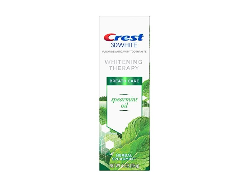 Crest 3D Spearmint Oil Whitening Therapy Toothpaste, 4.1 oz