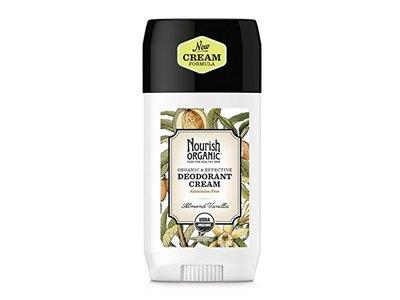 Nourish Organic Aluminum Free Cream Deodorant, Almond Vanilla, 2 Ounce