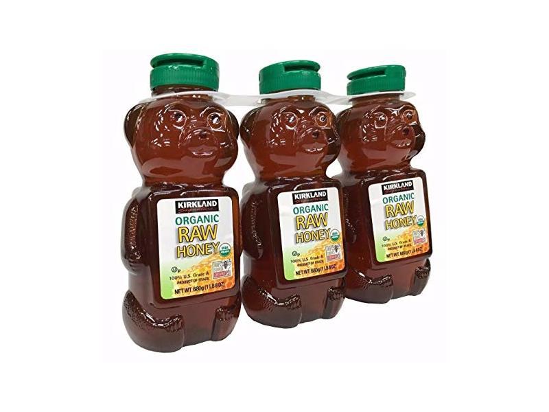 Kirkland Signature Raw Organic Honey Bear, 24 oz