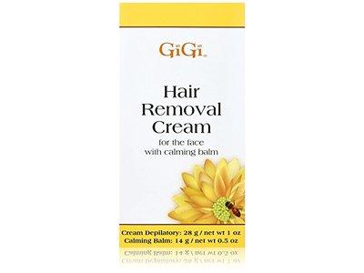 Gigi Hair Removal Cream For Face W Calming Balm 0 5 Oz
