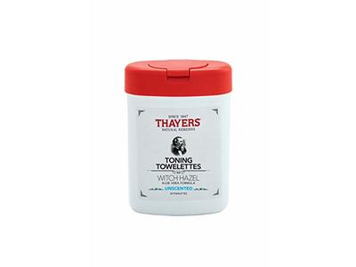 Thayers Witch Hazel Aloe Vera Formula Toning Towelettes Unscented, 30 Count