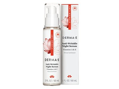 DERMA E Anti-Wrinkle Night Serum with Vitamin A and Vitamin E, 2oz