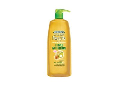 Garnier Fructis Triple Nutrition Conditioner, Dry Damaged Hair, 40 fl oz - Image 1