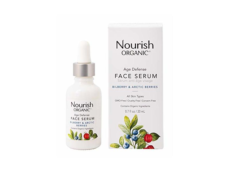 Nourish Organic Age Defense Face Serum, 0.7 Ounce