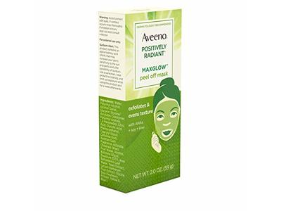 AVEENO Positively Radiant MaxGlow Peel Off Exfoliating Face Mask 2 oz - Image 7