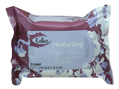 Kallea Moisturizing Makeup Remover Towelettes & Facial Wipes, 25 Count - Image 1