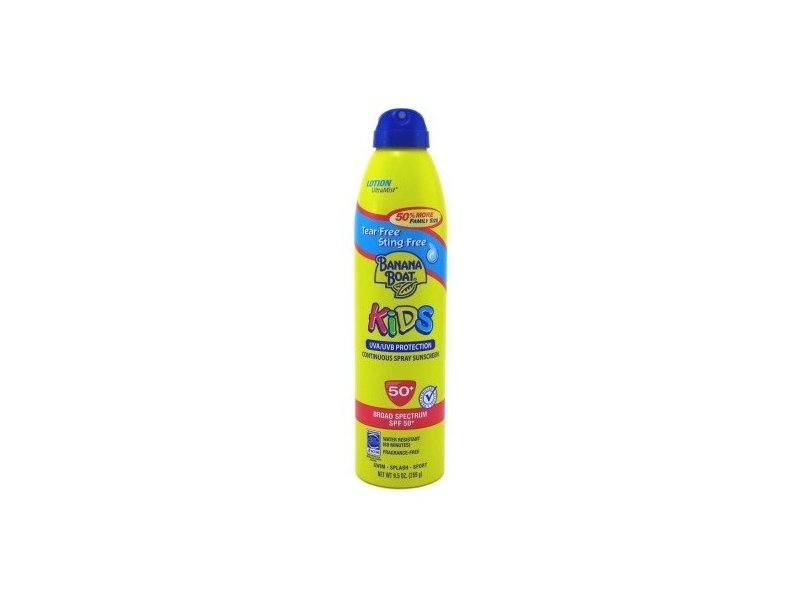 Banana Boat Kids Continuous Spray Sunscreen, SPF50, 9.5 oz