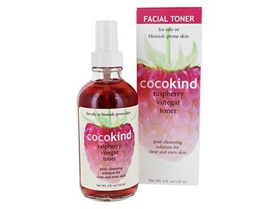 Cocokind Facial Toner, Raspberry Vinegar, 4 fl oz - Image 1