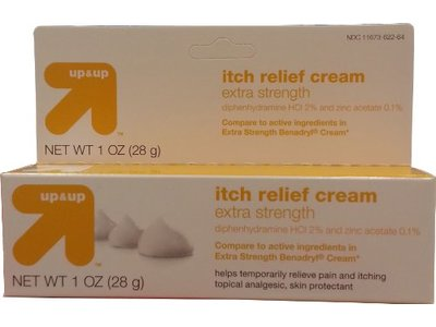 up&up Itch Relief Cream Extra Strength, Diphenhydramine 2% and Zinc Acetate 0.1%, 1 oz (28 g)