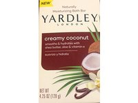 Yardley of London Naturally Moisturizing Bath Bar, Creamy Coconut, 4.25 oz - Image 2