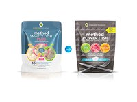 Method Naturally Derived Power Dish Dishwasher Detergent Packs, Free + Clear, 45 Count - Image 5