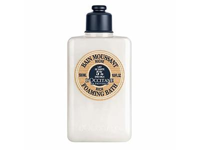 L'Occitane Ultra-Rich Foaming Bubble Bath with 5% Shea Milk, 16.9 fl. oz.