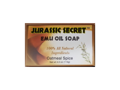 Jurassic Secret Emu Oil Soap, Oatmeal Spice, 4 oz