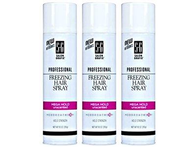 Salon Grafix Professional Freezing Hair Spray Mega Hold 10, Unscented, 9 Oz