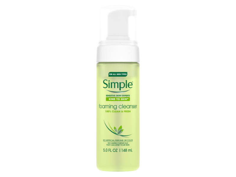Simple Facial Cleanser For Clean Skin Foaming Cleanser