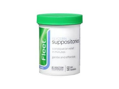 Fleet Glycerin Suppository Adult Size 50ct