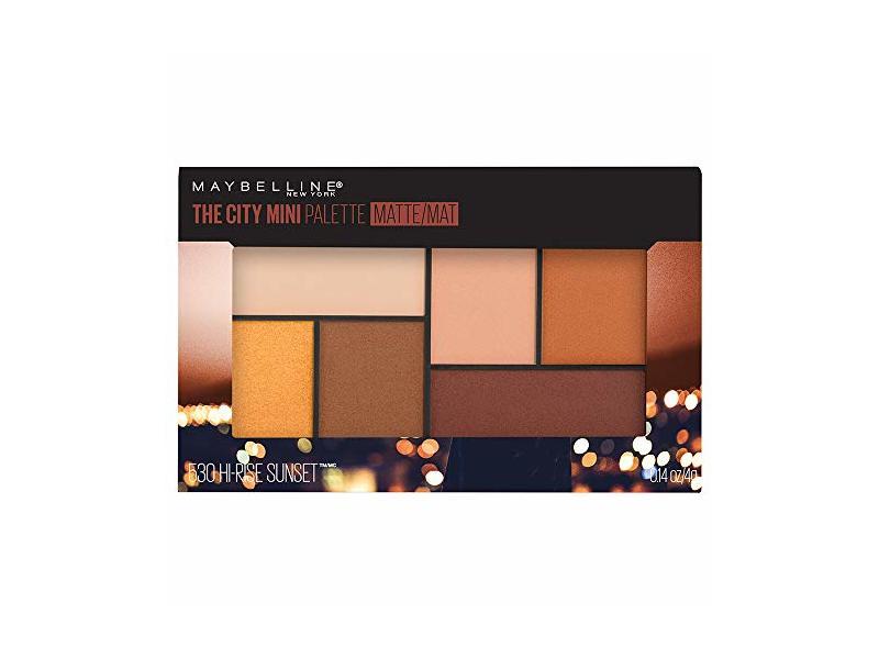 Maybelline New York The City Mini Palette Matte, Hi-Rise Sunset, 0.14 oz