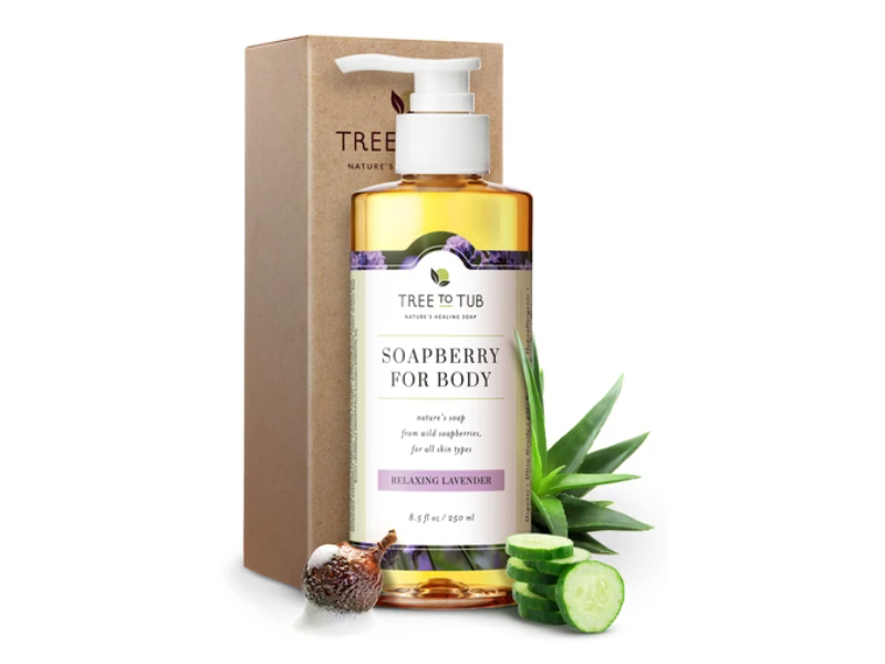 Tree To Tub Soapberry For Body, Relaxing Lavender, 8.5 fl oz