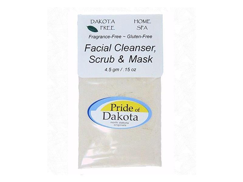 Dakota Free Facial Scrub Cleanser, Scrub & Mask, 4.5 gm single