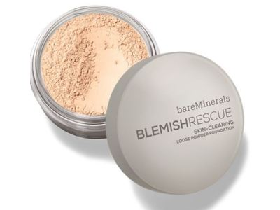 bareMinerals Blemish Rescue Skin Clearing Loose Powder Foundation, Fair, 0.21 oz