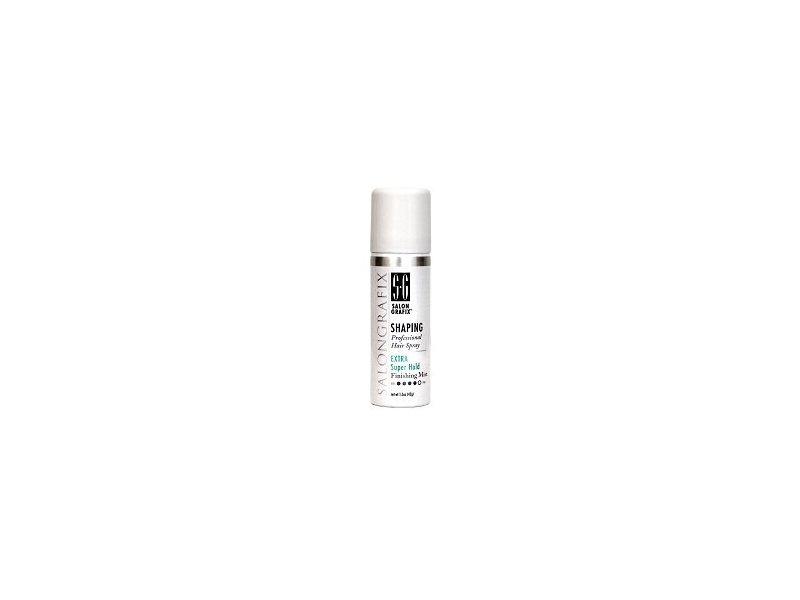 Salon Grafix Extra Super Hold Shaping Hair Spray Travel Size 1.5 Oz