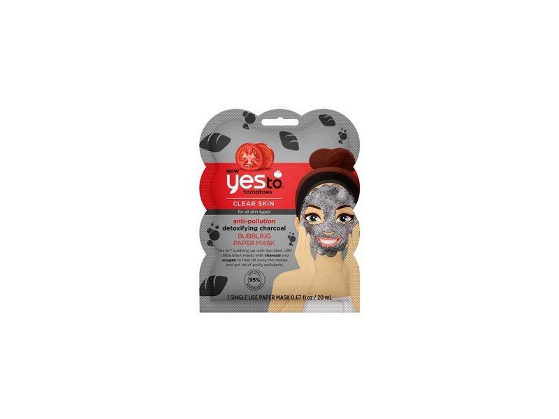 Yes To Tomatoes Anti Pollution Detoxifying Charcoal Bubbling Paper Mask, 1 mask