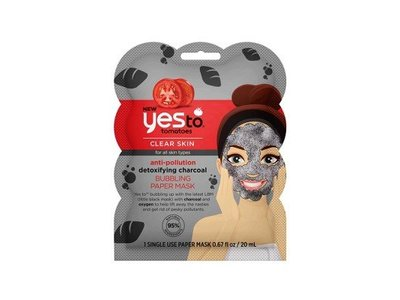 Yes To Tomatoes Charcoal Anti-Pollution Oxygenated Bubbling Paper Mask