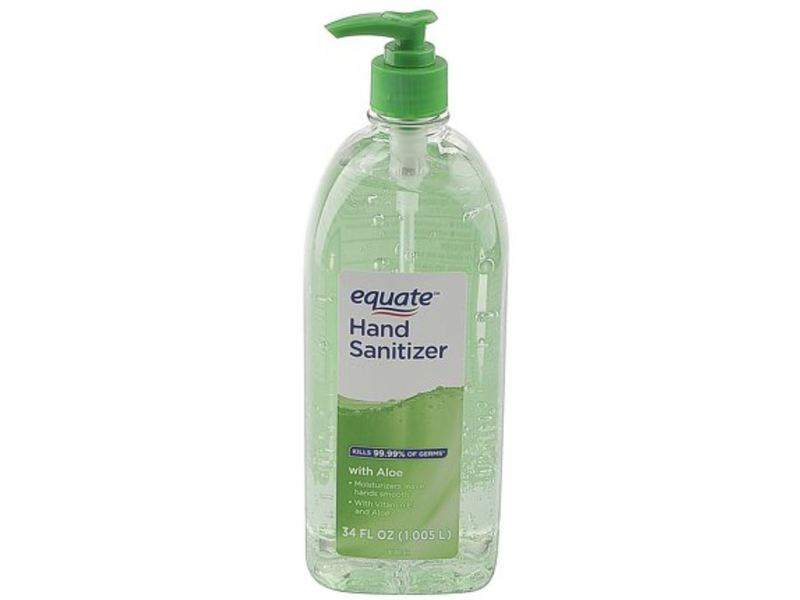 Equate Hand Sanitizer, Aloe, 34 fl oz