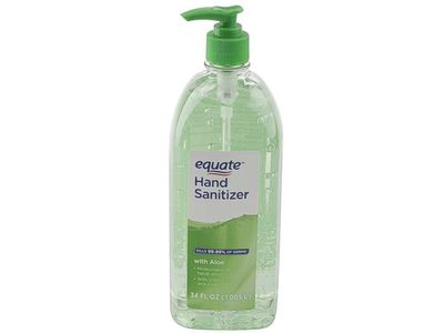 Equate Hand Sanitizer, Aloe, 34 fl oz