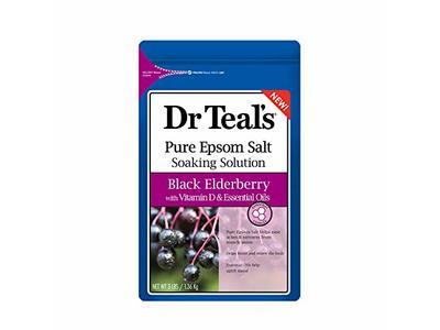 Dr Teal's Pure Epsom Salt Soak, Black Elderberry with Vitamin D & Essential Oils, 1.36 Kg