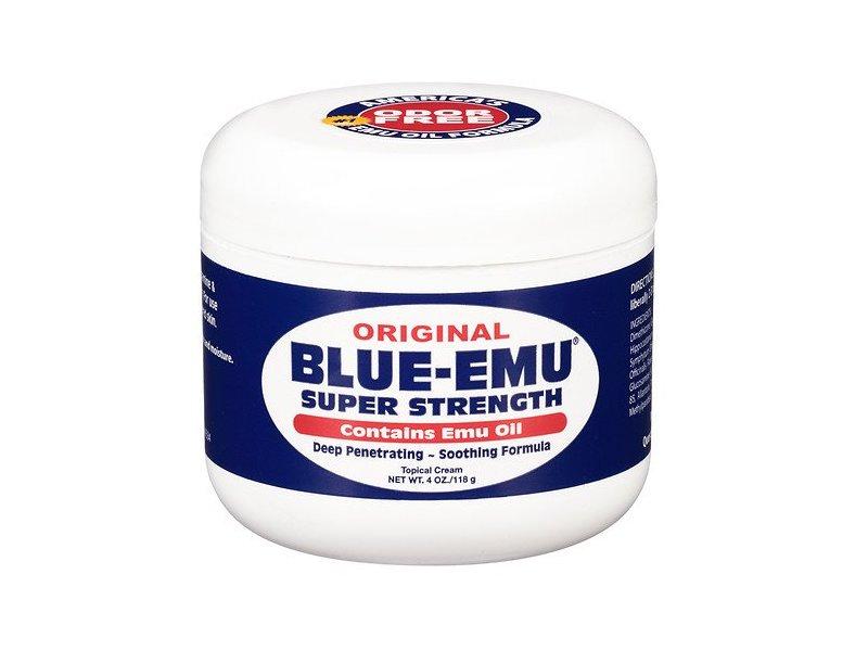 Blue-Emu Super Strength Emu Oil Topical Cream, 4 oz
