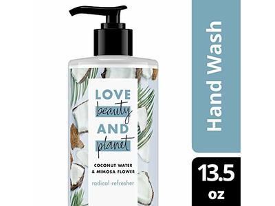 Love Beauty and Planet Radical Refresher Coconut Water & Mimosa Flower Hand Wash, 13.5 oz
