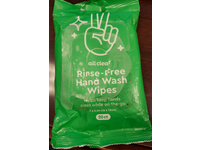 All Clear Rinse-Free Hand Wash Wipes, 20 Count, Pack Of 12 - Image 3
