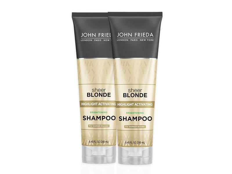 John Frieda Sheer Blonde Highlight Activating Brightening Shampoo, 8.45 fl oz/250 mL (Pack Of 2)