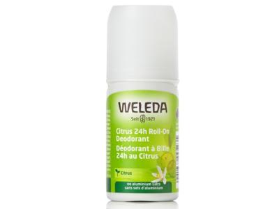 Weleda 24 Hour Roll-On Deodorant, Citrus, 1.7 fl oz