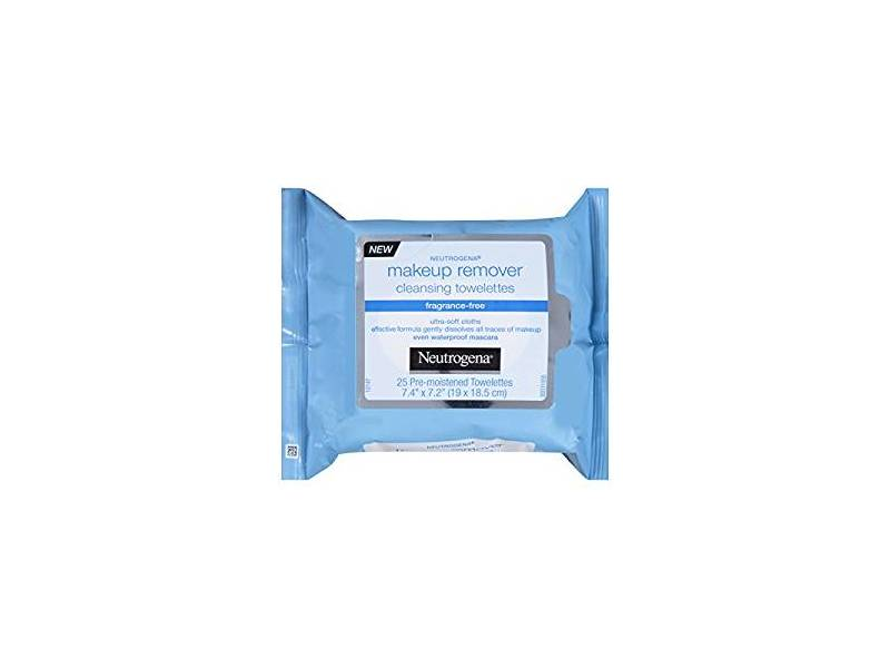 Neutrogena Makeup Remover Cleansing Towelette, Fragrance Free, 25 count