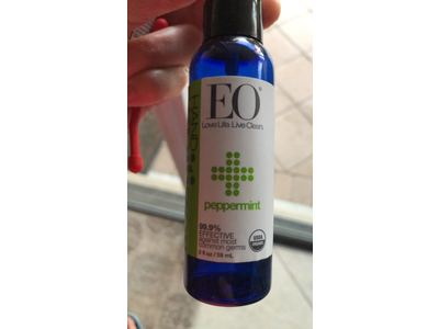 EO Products Hand Sanitizer Spray - Organic Peppermint - 2 Oz - Image 4