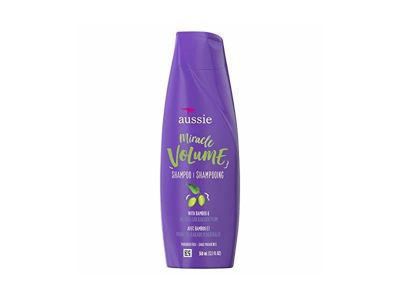 Aussie For Fine Hair - Aussie Paraben-free Miracle Volume Shampoo With Plum & Bamboo, 12.1 Fl Oz, 6 Count