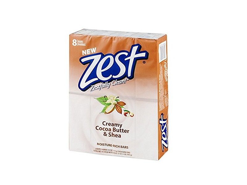 Zest Bar Soap, Cocoa Butter & Shea, 4 oz (Pack of 8)