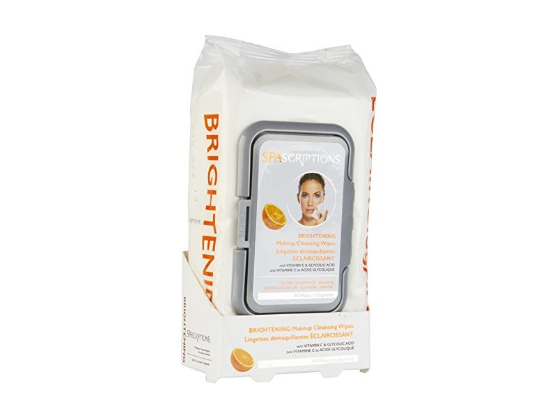 Spascriptions Brightening Makeup Wipes, 60 ct