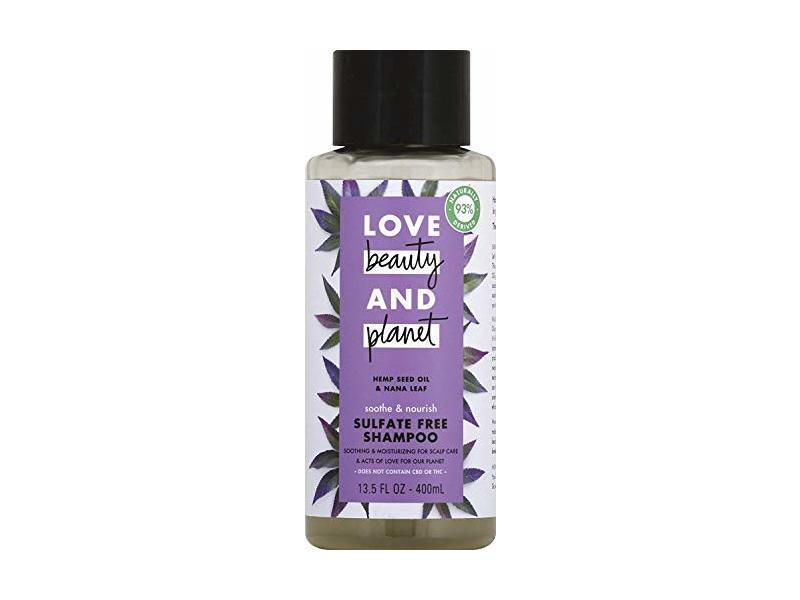 Love Beauty & Planet Soothe & Nourish Shampoo, Hemp Seed Oil & Nana Leaf, 13.5 fl oz