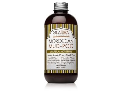 SheaTerra Organics Moroccan Mud-Poo Marula Moisture, 8 oz