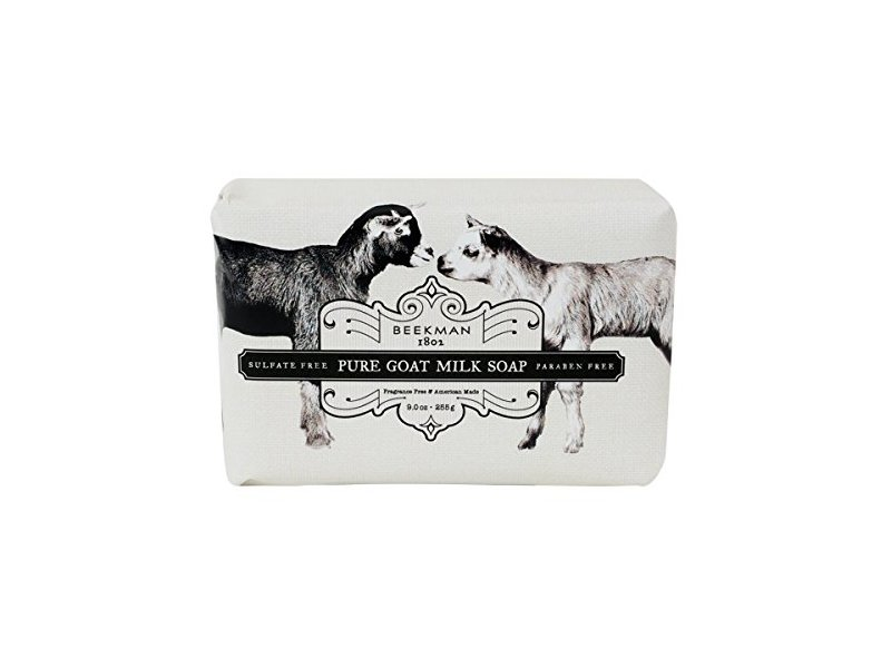 Beekman 1802 Pure Goat Milk Soap Bar, Fragrance Free, 9.0 oz