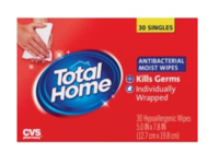 CVS Total Home Antibacterial Moist Wipes, 30 count - Image 2