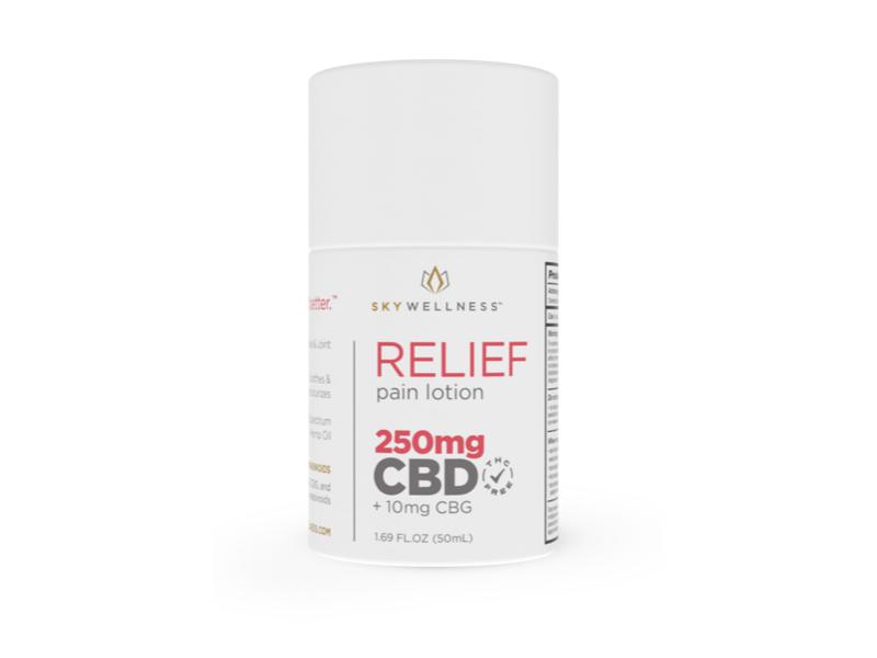 Sky Wellness CBD Relief Pain Lotion 250mg + CBG + Eucalyptus