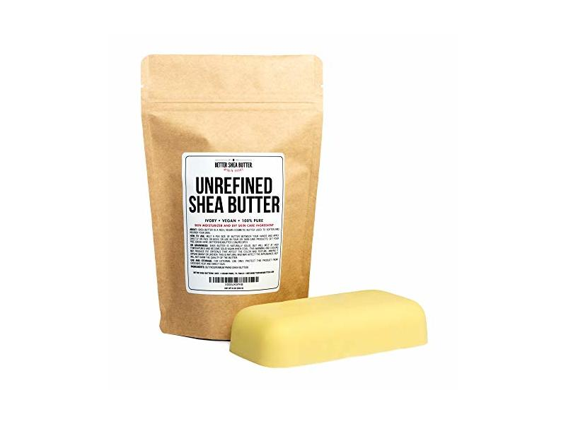 Better Shea Butter Unrefined African Shea Butter - Ivory, 100% Pure & Raw 8 oz Bar