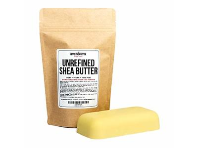 Better Shea Butter Unrefined African Shea Butter - Ivory, 100% Pure & Raw 8 oz Bar