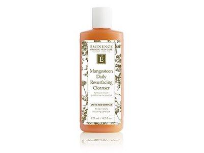 Eminence Organic Skincare Mangosteen Daily Resurfacing Cleanser, Lactic Acid Complex, 4.2 fl oz